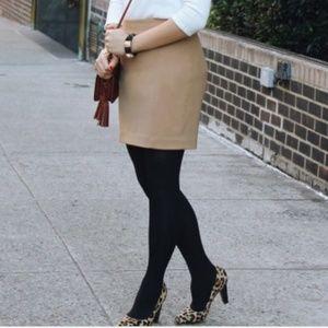 H&M light brown Career Skirt